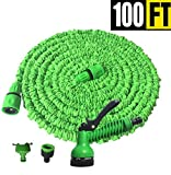 Expandable Garden Hose with 7 Function Nozzle, Flexible Extra Strength Fabric Leak Proof