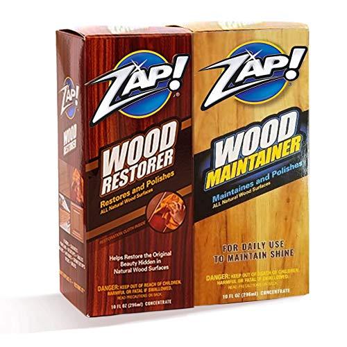 Zap Wood Restorer & Wood Maintainer 2 10 Ounce Bottles As Seen On Tv