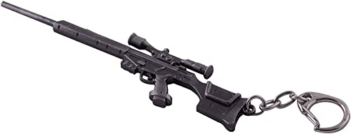 high quality Mallofusa Miniature Gray high quality Metal Assault Rifle popular Gun Model Keychain Bag Pendant Decoration online