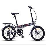 DJYD Faltrad, Erwachsene Frauen Leichtgewichtler faltbares Fahrrad, 20 Zoll 7-Gang Mini Bikes, verstärkter Rahmen Pendler Fahrrad, Aluminiumrahmen, orange FDWFN (Color : Gray)