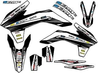 Senge Graphics kit compatible with KTM 2013-2014 SXF, Vigor White Graphics Kit