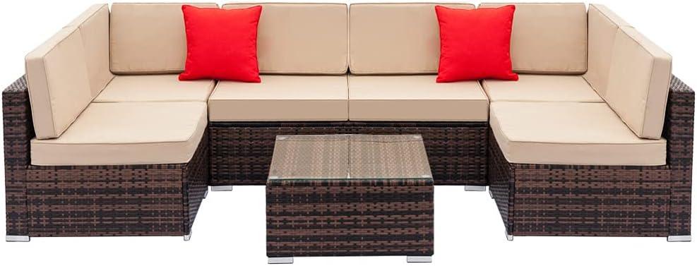 HAOFILM lowest price Outdoor Patio Direct sale of manufacturer Furniture Set Corner Rattan Wicker Weaving