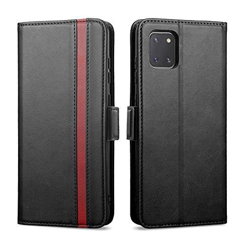 Rssviss Samsung Note 10 Lite Hülle, Handyhülle Galaxy Note 10 Lite, Flip Hülle Samsung Note 10 Lite PU Leder Hülle [4 Kartenfächer] mit [Magnetverschluss] [Handy Ständer] A81 Schutzhülle, 6.7