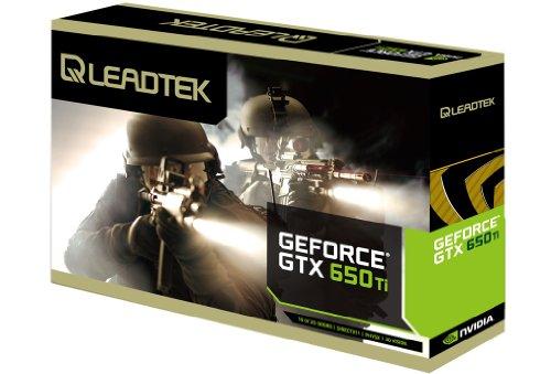 LeadTek GeForce GTX 650 Ti 1 GB PCI-Express 3.0 Grafikkarte 650Ti - Verkaufsverpackung - VGA , DVI-D, HDMI - 3 Jahre Herstellergarantie
