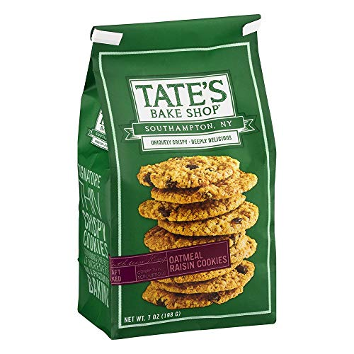 Tate's Bake Shop- Oatmeal Raisin Cookies 7 oz. (Pack of 2)