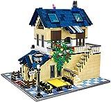 Mopoq Puzzle Asamblea Ciudad El Family House Villa micro sistema del bloque juguete del ladrillo, Educación Puzzle niños Juego de construcción (1298 Piezas)