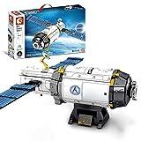 WWEI Juego de construcción para vehículos espaciales de ingeniería, juguete espacial para niños, inspirado en la NASASASS, 1002 piezas de bloques de sujeción, compatible con Lego