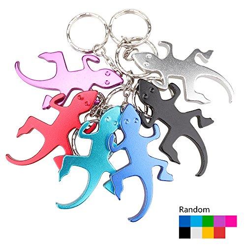 Temlum Aluminium Bier Flaschenöffner Schlüsselanhänger Tier Mini Flaschenöffner Schlüssel Sammler EDC Pocket Schlüsselanhänger lustiges Geschenk (Gecko)