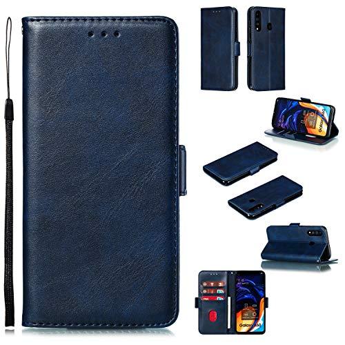 Tosim Galaxy A60 / M40 Hülle Klappbar Leder, Brieftasche Handyhülle Klapphülle mit Kartenhalter Stossfest Lederhülle für Samsung Galaxy A60/M40 - TOYTE010152 Blau