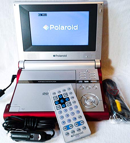 Amazing Deal Polaroid 7 Portable Widescreen Dvd Player Red/silver