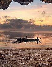 Notebook: landscpe sunset cave sea sky clouds cavern