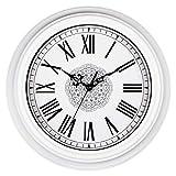 Topkey Reloj de Pared de 30cm Retro Silencioso para Sala de Estar, Cocina,...