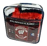 Northwest University of Wisconsin Badgers - Established in 1848 - Raschel 60x80 inch Blanket Throw