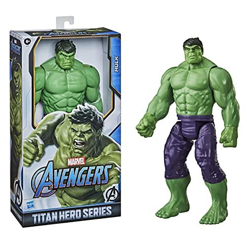Hasbro E74755L2 Marvel Avengers Titan Hero Serie Blast Gear Deluxe Hulk Action-Figur, 30 cm großes Spielzeug, inspiriert durch die Marvel Comics, Für Kinder ab 4 Jahren