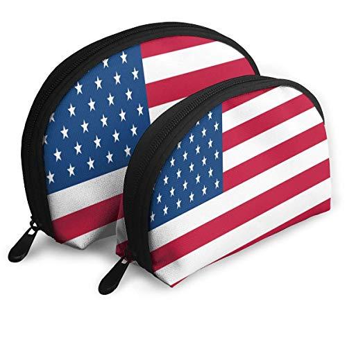 Kulturbeutel, Reißverschluss, für Reisen, Make-up, Clutch, USA-Flagge, tragbare Tasche, Clutch