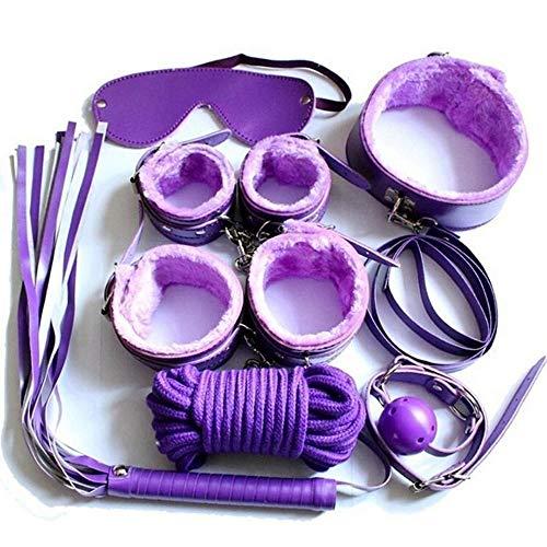 Yoga-Praxis 7 PCS Set Nylon Paar Game Bekleidung Accessoires Leder Bett Bündelung Spielzeug for Erwachsene Paare Kit (Color : B)