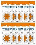 everActive 13, 60 Stück, Hörgerätebatterien,...