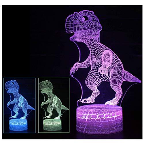 Soul hill Dinosaurio luz de la Noche de 7 Colores LED de la lámpara del Tacto Lámparas for niños, de baterías