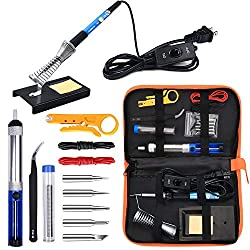 in budget affordable Ambes Soldering Iron Electronic Work Kit 60W Adjustable Temperature Welding Tool Soldering 5 Pieces