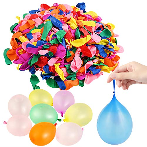 GOLDGE 1200 globos de agua, de colores fluorescentes, para fiestas al aire libre, piscina, playa, jardín, globos de juguete, fácil de llenar