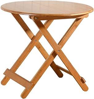 Hairong Table pliante en bambou pour appartement ou maison - Table de salle à manger simple en bois massif - Table pliante...