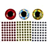 wifreo 300PCS 3D Bionic Fish Eyes Fly Tying Material Lure Eyes 2mm 3mm 4mm 5mm 6mm (8mm)
