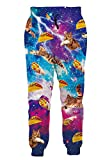 Custom Floral Graphic Prints Joggers Pants Fall Winter Hiking Running Sweatpants Purple Maroon Galaxy Space Big Thighs Tapered Flex Leisure Suit Slacks with Elastic Waist