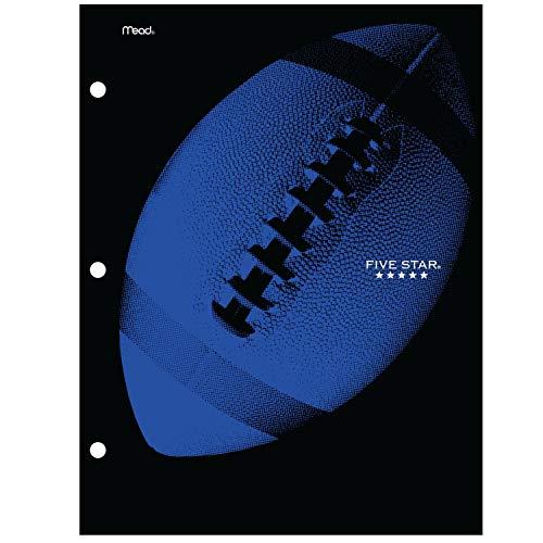 Five Star Folder, 4 Pocket, Water-Resistant Paper Folder, Assorted Sports Designs, Design Selected for You, 1 Count (33176)