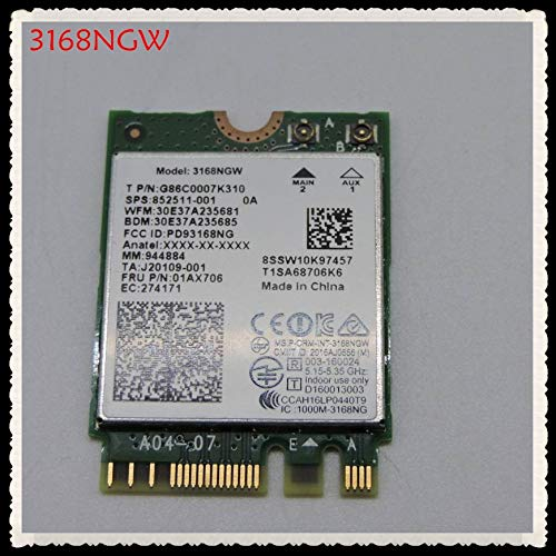REFIT Brandfor Intel 3168NGW Dual Band Wireless-AC 3168 3168 AC 433Mbps intel3168 Bluetooth 4.2 802.11ac WiFi tarjeta de red