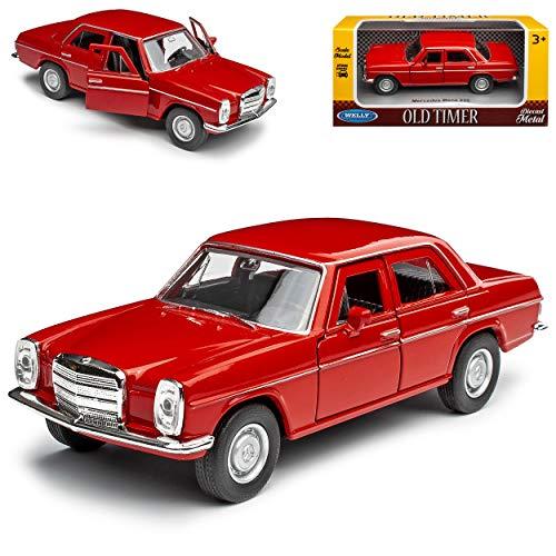 alles-meine.de GmbH Mercedes-Benz 200 /8 Strich Acht Limousine Rot W114 W115 1967-1976 ca 1/43 1/36-1/46 Welly Modell Auto mit individiuellem Wunschkennzeichen