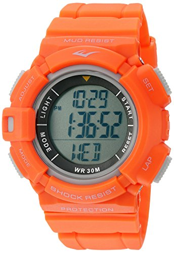 Everlast 'Heart Rate Monitor' Automatic Plastic and Rubber Fitness Watch, Color:Orange (Model: EVWHR004OR)