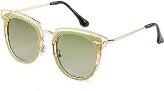 LUKEEXIN Fashion Square Color Leopard Polarized Sunglasses for Women, UV Protection (Color : Green)