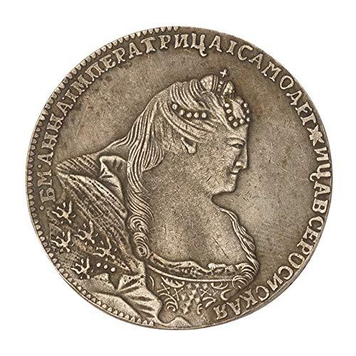 Xinmeitezhubao Münzsammlung, Anna Silbermünze Russisches Reich 1740 Rubel Gedenkmünze, Porträt der Andenken
