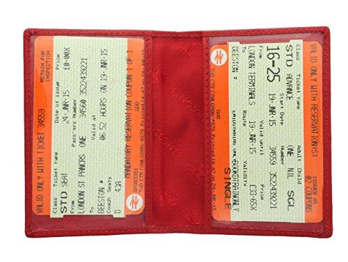 Visconti Leder Fahrkartenhalter/Ausweishülle TC1TC Rot