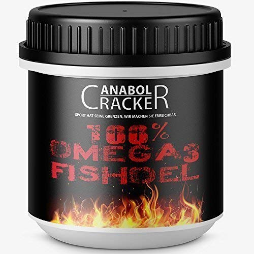 100% Omega 3 Fischöl, 520 Kapseln, hochdosiert - 3000 mg Tagesdosis mit EPA + DHA + Vitamin E, Fettverbrennung Diät Muskelaufbau