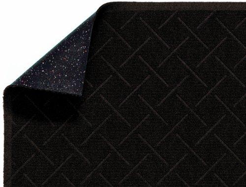 M+A Matting 2202 Enviro Plus PET Polyester Fiber Diamond Weave Interior/Wiper Floor Mat, Crumb Rubber Backing, 4' Length x 3' Width, 1/4