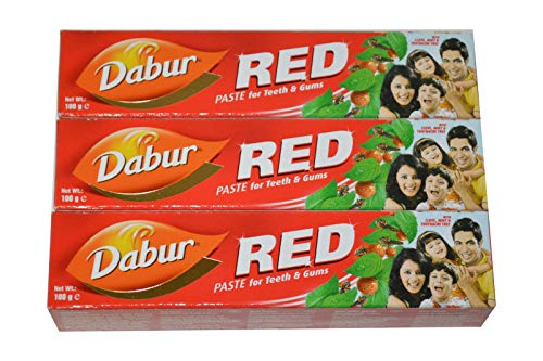 3 x Dabur Red Herbal 100ml Zahnpasta zahncreme 300ml