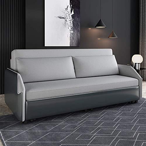 ZHANGNING Divano Letto 2 posti 200 * 79 * 88cm Ecopelle Stile Moderno reclinabile da Soggiorno divani Letti