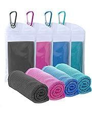 """Koelhanddoek (40""""x12""""), 4 Pack IJsdoek, Zachte Ademende Handdoek, Microfiber Handdoek voor Sport, Hardlopen, Gym, Workout, Camping, Fitness, Workout Yoga (4 STKS#3)"""