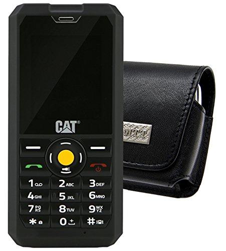 Original MTT Quertasche für / Caterpillar CAT B30 Tasche Horizontal Ledertasche Handytasche Etui mit Gürtelclip*