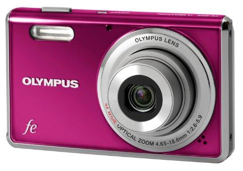 Olympus FE-4000 Digitalkamera (12 Megapixel, 4-Fach Opt. Zoom, 6,9 cm (2,7 Zoll) Display, Gesichtserkennung, i-Auto Mode, AF-Verfolgung) Metal Magenta