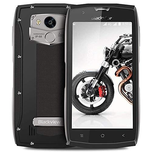 Smartphone Resistentes, Blackview BV7000 Pro Móvil Antigolpes, 4GB + 64GB Quad-Core 1.5GHz, Dual SIM, Android 7.0, 8MP/13MP Cámara, 5.0 FHD Pantalla, 3500mAh Batería Rugged Móvil-Gris