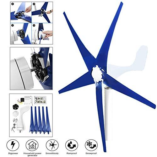LYYNTTK Wind Turbine Generator 800W DC 24V Wind Turbine 5 Blade Low Wind Speed Starting NSK Bearings Garden Street Lights Wind Turbines with Charge Controller Garden