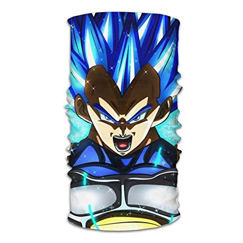 ghjkuyt412 Vegeta Dragon Ball Super Anime Bandana Diadema para Correr Cara Bufanda Tubo, Mujeres Hombres Cuello Polaina Para Yoga Fitness Senderismo Esquí Entrenamiento Ciclismo Al Aire Libre