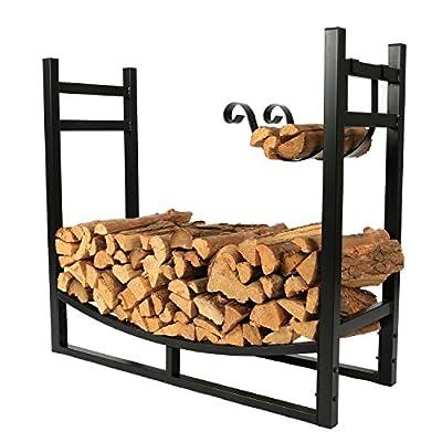 1. GO 3 Feet Indoor/Outdoor Heavy Duty Firewood Log Rack with Wood Holder, 30 Inch Tall
