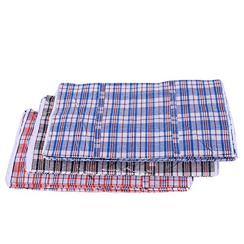 Set of 4 Extra-Large Plastic Checkered Storage Laundry Shopping Bags W. Zipper & Handles Size 23'x23'x5'