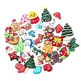 SUPVOX 50pcs Accessoires de Noël Miniatures Résine Cloches Chapeaux Noel...