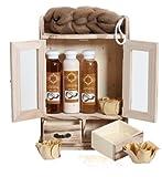 BRUBAKER Cosmetics - Coffret de bain - Noix de coco - 10 Pices - Armoire en Bois - Ide cadeau
