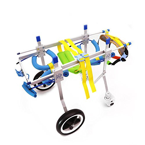 RUNGAO - Silla de ruedas ajustable para mascotas,