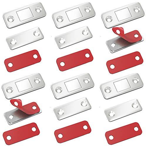 Türmagnet Selbstklebend Jiayi 6 Stück Tür Magnete für Schranktüren Ultra Dünn Möbel Magnetschnäpper Stark Magnetverschluss Schrank Moebel Magnete Türverschluss Schublade Möbelmagnete Türschließer